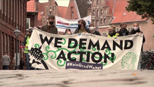 Frontbanner der FFF-Klimademo am 25.09.2020