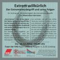 """""""Extrem willkürlich"""" Veranstaltungsflyer"""