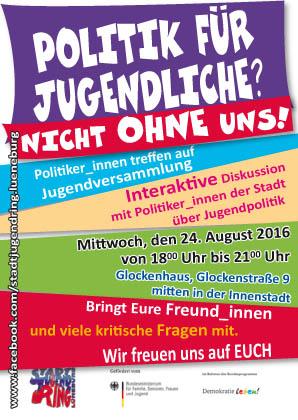 Einladungsflyer zur Jugendversammlung