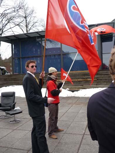 Aktion vor dem niedersächsischen FDP-Landesparteitag