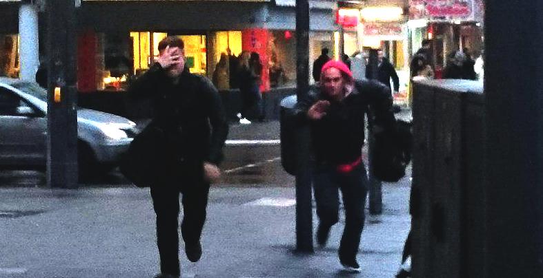 Jagdszene in Braunschweig: Nazis jagen eine*n Antifaschist*in