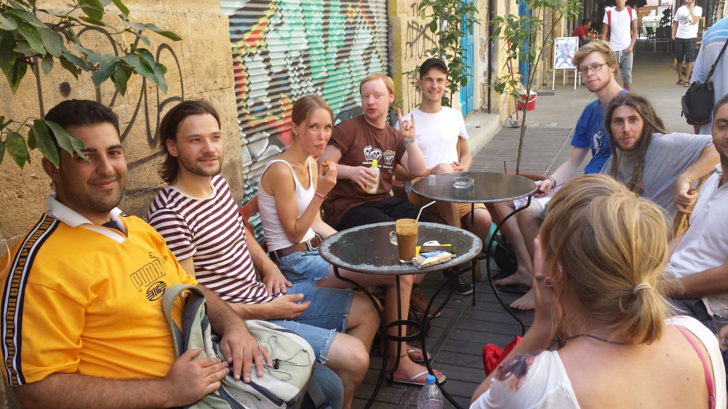 Die Gruppe beim Kennenlernen