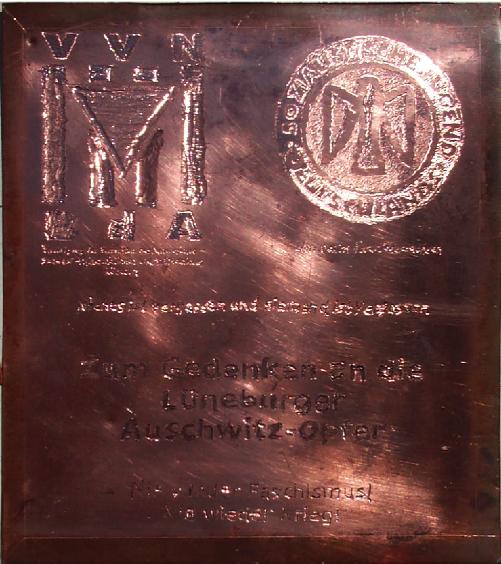 Gedenktafel Kupfer