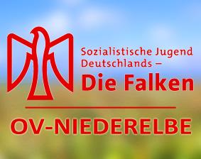 Symbolbild OV-Niederelbe mit Falken Logo